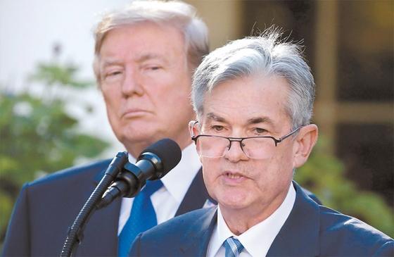 트럼프 대통령은 증시 하락 등의 주요 원인이 연준의 금리 인상이라고 보고 제롬 파월 연준 의장을 연일 비판하고 있다. / 사진:연합뉴스