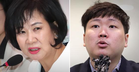 손혜원 더불어민주당 의원(왼쪽)과 신재민 전 기획재정부 사무관. [연합뉴스·뉴스1]