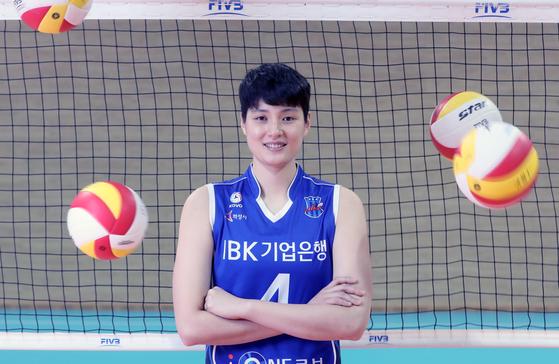 지난 3일 기흥 IBK연수원 체육관에서 만난 김희진. 용인=강정현 기자