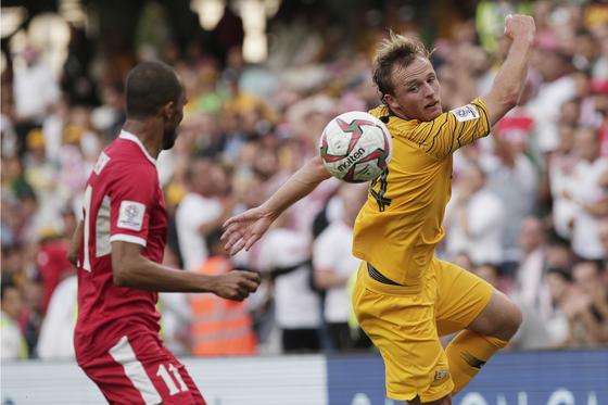 디펜딩 챔피언 호주가 6일 아시안컵 첫경기에서 요르단에 0-1로 충격패를 당했다. [AP=연합뉴스]