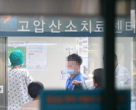 강릉아산병원 고압산소치료센터 [뉴스1]