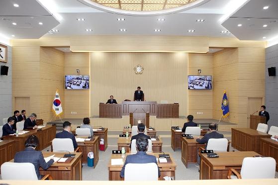 지난해 11월 26일 예천군의회에서 제224회 제2차 정례회 제1차 본회의가 진행되고 있다. [사진 예천군의회]