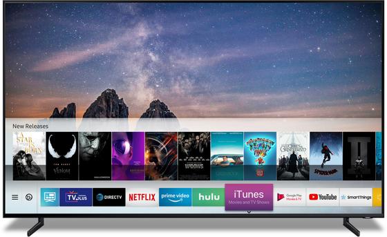 삼성과 애플의 전략적 협력으로 삼성TV에서 아이튠즈 콘텐트를 이용할 수 있게 된다 [사진 삼성전자]