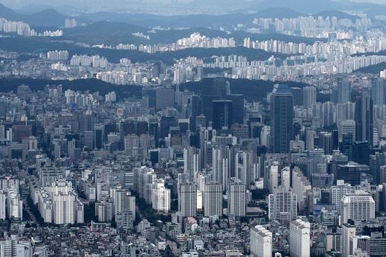 최근 서울시 강남 일대 아파트 단지들 전경. [뉴스1]