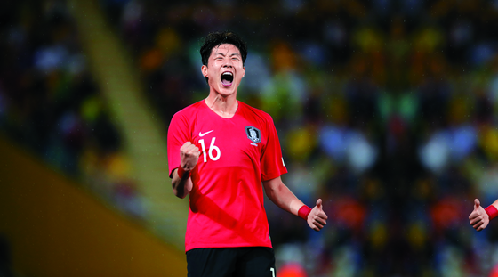 지난해 33골을 터뜨린 황의조가 아시안컵 한국축구대표팀 첫 경기 득점포의 주인공이 됐다. [중앙포토]