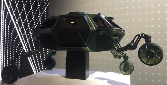 CES 2019에서 현대차가 공개한 신개념 이동수단 '엘리베이트.' 라스베이거스 = 문희철 기자