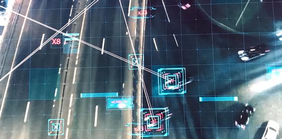 2019 CES에서 '커넥티비티를 초월하라(Transcend Connectivity)'는 미래전략을 선포한 현대차그룹. 사진은 현대차그룹이 2019 CES에서 발표한 프레젠테이션. 라스베이거스 = 문희철 기자
