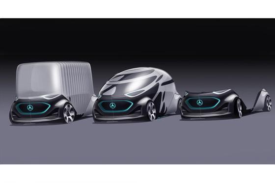 2019 CES에서 메르세데스-벤츠가 북미 최초로 선보인 콘셉트카 '비전 어바네틱.' [사진 메르세데스-벤츠]