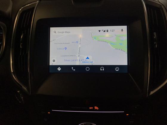 구글의 차량용 SW 안드로이드 오토가 실제 가장 빠른 길을 찾는 모습. 김영민 기자