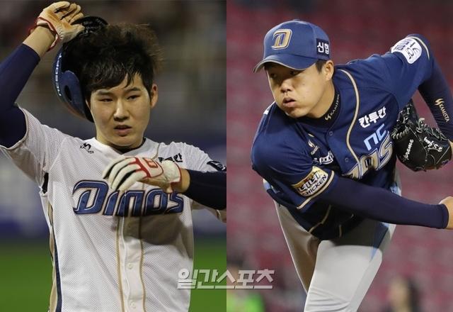 NC 박민우(왼쪽)과 장현식은 아쉬웠던 지난 시즌을 자책했다. 두 선수는 다가오는 2019시즌 더 나은 활약을 다짐했다.