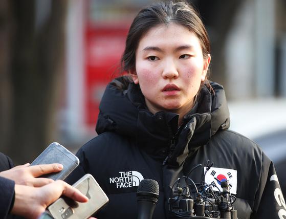 쇼트트랙 국가대표 심석희의 폭로는 '한국형 래리 나사르 사건'으로 번질 수 있을까. [연합뉴스]