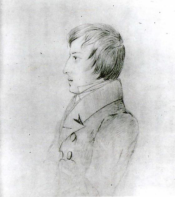 17세의 쇼팽. 엘리사 라지비우 Elisa Radziwill 의 연필 스케치. 바르샤바 쇼팽기념관 소장. ⓒPublic Domain [사진 송동섭]