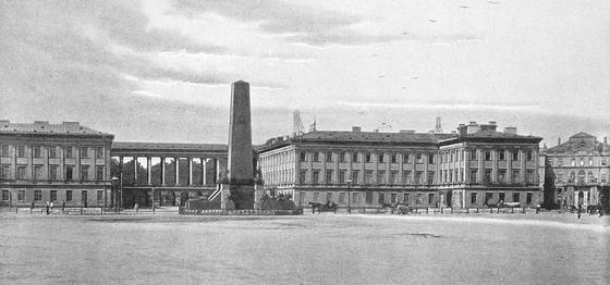 쇼팽 일가가 살았던 색손궁의 1800년대 후반기의 모습. 색손궁은 2차 대전 중 독일군에 의해 파괴됐다. ⓒ공개도메인 [출처 wikimedia]