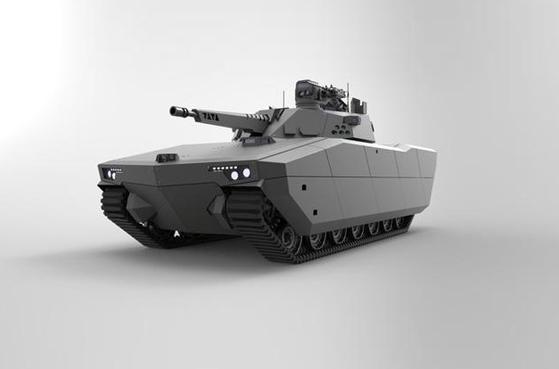 한화디펜스의 AS21 레드백 컴퓨터 그래픽. 육군의 K-21 보병전투차의 업그레이드 모델이다. 이 전투차량이 육군의 NGVC에 영향을 줬다.  [그래픽 한화디펜스]