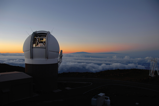 '암소'는 지난 6월 16일(현지시각), 하와이 할레아칼라 천문대에서 최초 관측됐다. 이후 연구진은 감마선, 경 X선 등으로 천문 현상을 종합 분석하기 위해 다양한 천체 망원경을 사용했다. 사진은 할레아칼라 천문대에 있는 '판-스타스1(Pan-STARRS1) 천체 망원경. [AP=연합뉴스]