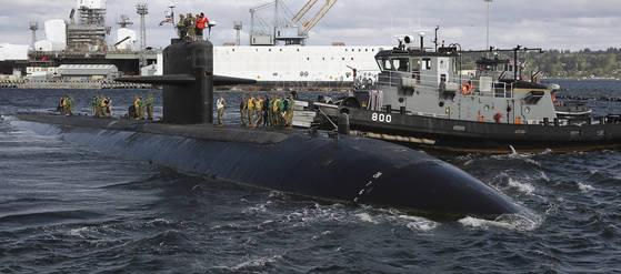 미 핵잠수함 브래머튼 호. [AP=연합뉴스]