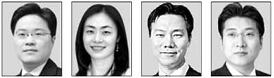 양해근, 정현영, 조현수, 김지훈(왼쪽부터)