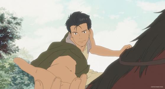 쿤이 과거로 가서 만나는 외증조부의 젊은 시절. 스타 배우 후쿠야마 마사하루가 목소리 연기했다. [사진 얼리버드픽쳐스]