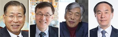 서길수, 김광수, 문영환, 전영현(왼쪽부터)