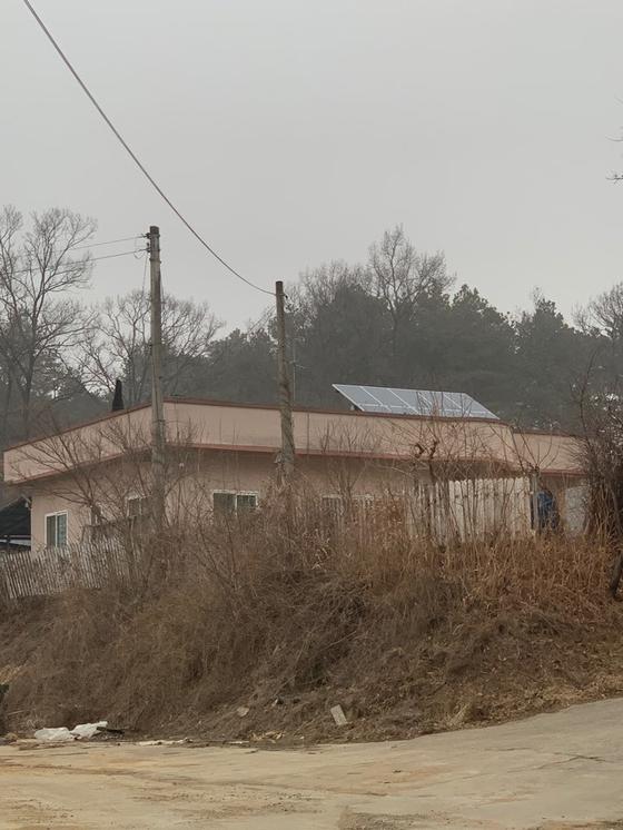 14일 오전 찾은 박종철 의원의 자택 인근. 김윤호 기자