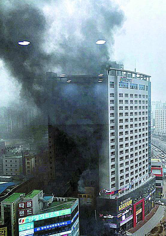 천안 라마다앙코르호텔 화재 1명 사망 23명 부상