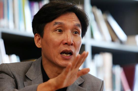 김민석 전 의원(현 민주연구원장)[중앙포토]