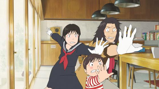 '미래의 미라이'는 네 살배기 소년 쿤(가운데)과 미래에서 온 여동생 미라이의 시간여행 이야기다. [사진 얼리버드 픽쳐스]