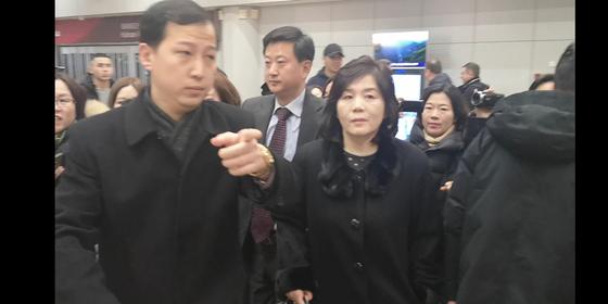 15일 베이징 공항에 도착한 최선희 북한 외무성 부상 [연합뉴스]