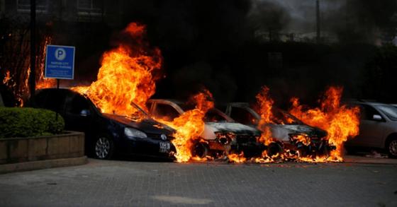 아프리카 케냐의 수도 나이로비의 상업단지에서 15일(현지시간) 총격과 테러 공격이 발생해 다수 인명피해가 발생한 것으로 알려졌다 [로이터=연합뉴스]