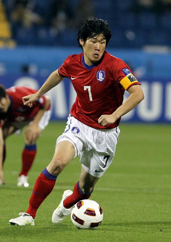 2011년 카타르 아시안컵에서 팀을 이끌었던 박지성. 임현동 기자