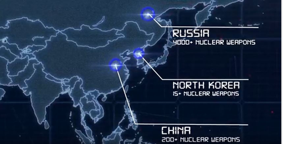 주일미군 '북한 핵보유 선언국' 동영상   (도쿄=연합뉴스) 주일미군사령부(USFJ)가 지난해 12월 유튜브에 공개한 동영상 캡처. 북한을 중국, 러시아와 함께 '핵보유 선언국'으로 설명했다. 2019.1.14   jsk@yna.co.kr (끝) <저작권자(c) 연합뉴스, 무단 전재-재배포 금지>