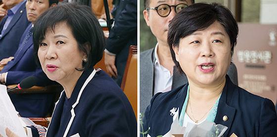 손혜원(左), 서영교(右). [뉴스1, 연합뉴스]