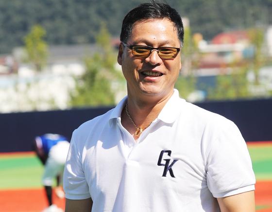 국내에서 열린 질롱 코리아 트라이아웃 당시 구대성 감독. [연합뉴스]
