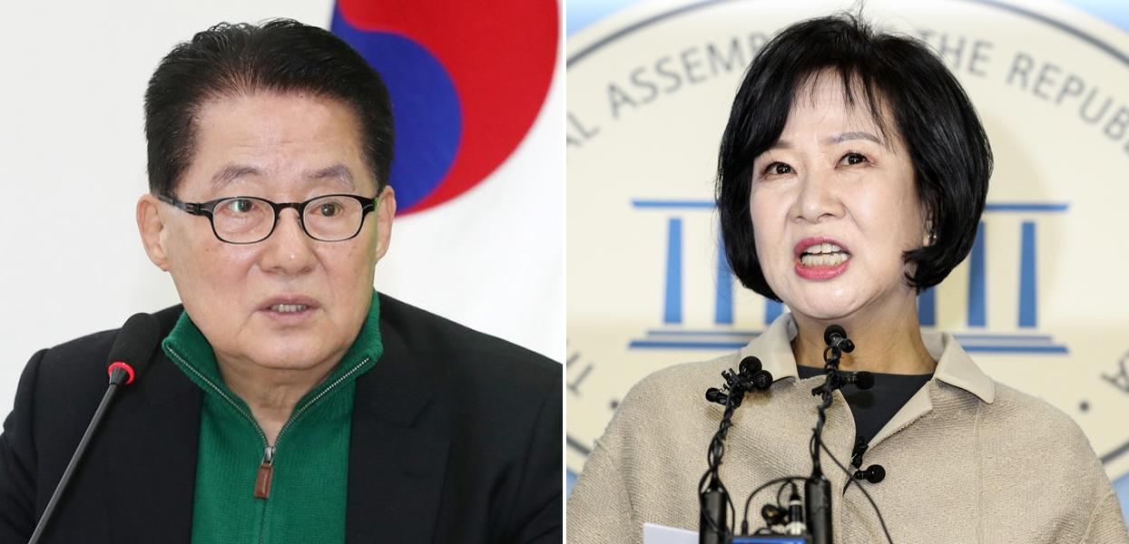 박지원·손혜원 의원. [뉴스1, 중앙포토]
