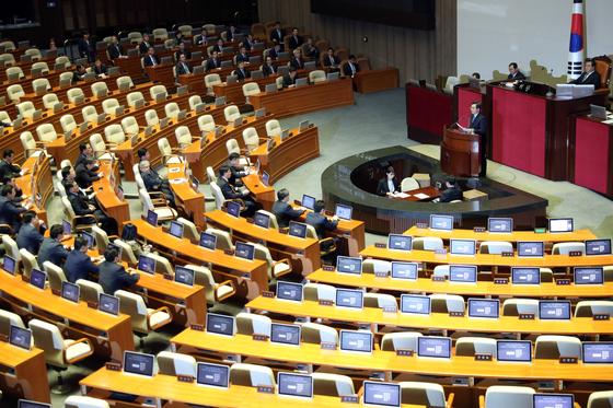 국회 본회의 모습. [중앙포토]
