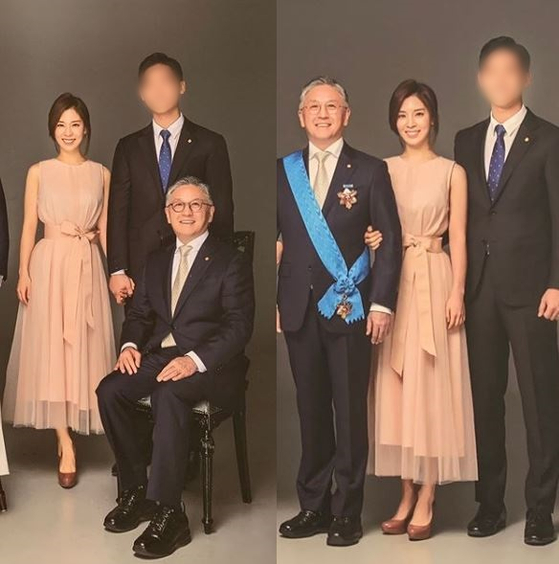 함연지씨가 21일 공개한 아버지 함영준 오뚜기 회장과 찍은 가족 사진. [사진 함연지 인스타그램]
