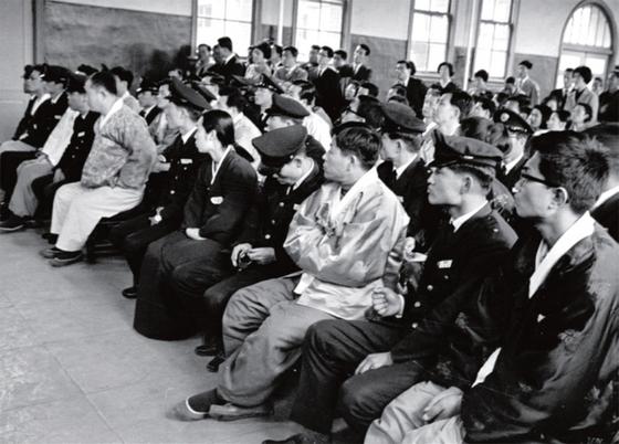 1967년 터진 동백림사건 관련 재판의 피고인들.