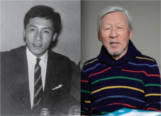 1961년 파리에서 열린 결혼식 때의 조상권(사진 왼쪽). 당시 27세였다. 그리고 83세인 2019년의 조상권(사진 오른쪽). 세월의 풍파가 느껴지지만 품격은 그대로다.