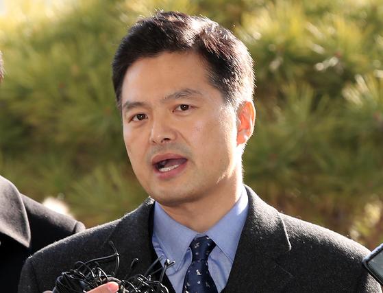 청와대 특별감찰반의 민간인 사찰 의혹 등을 제기한 김태우 전 검찰 수사관. [연합뉴스]