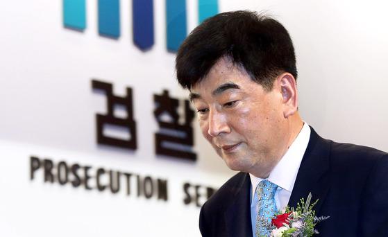 2014년 7월 최재경 당시 인천지검 검사장 퇴임식.[중앙포토]