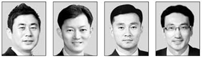 김남수, 이동현, 백찬현, 최용준(왼쪽부터).