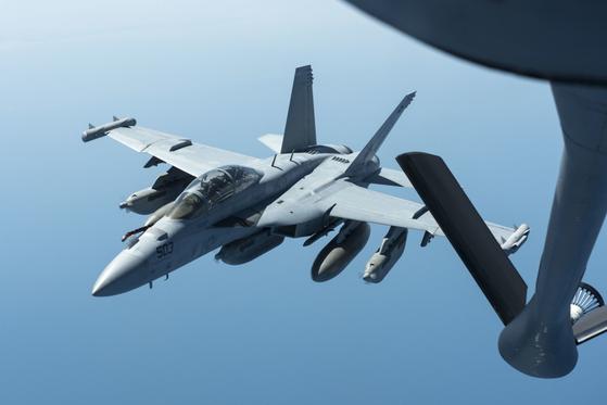 미 해군의 전자전 공격기 EA-18G. [사진 미 해군]
