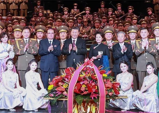 시진핑 부부, 북한 공연 관람