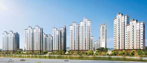강남생활권·숲세권·역세권 지역주택조합아파트인 서울대입구역 힐링스테이트 투시도.