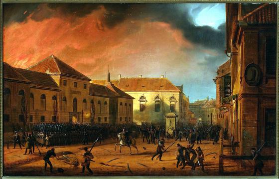 바르샤바 무기고를 습격하는 봉기군(1831), 마르친 잘레스키(Marcin Zaleski) 그림. ⓒPublic Domain [출처 Wikimedia Commons]