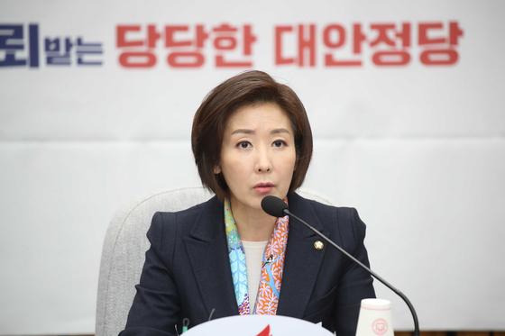 자유한국당 나경원 원내대표. 오종택 기자