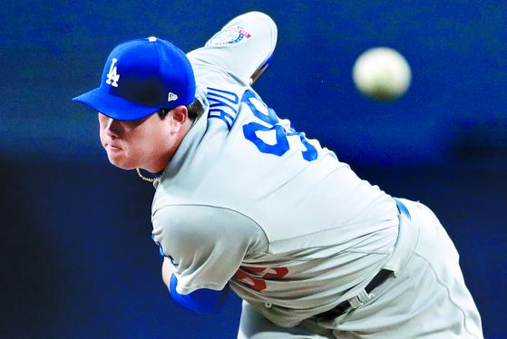 2019 시즌 MLB 선발랭킹 53위로 평가받은 LA 다저스 류현진. [AP=연합뉴스]