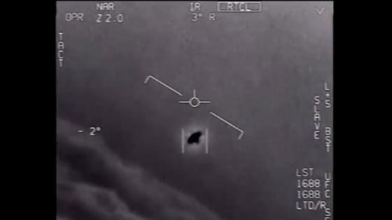 미 해군 전투기가 2004년 샌디에이고 인근 상공에서 포착한 UFO. [유튜브 캡처]