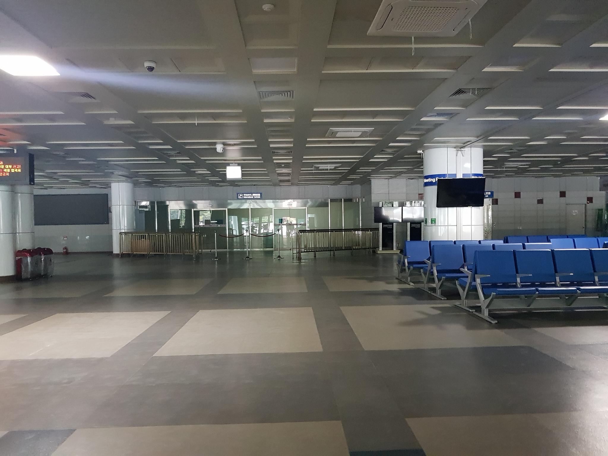평소 이용객이 없어 썰렁한 양양공항 여객터미널의 대합실. [블로그캡쳐]