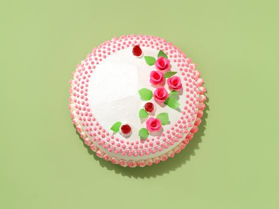 태극당의 대표 메뉴 중 하나인 버터케이크. 케이크 시장의 트렌드는 생크림 제품이지만, 지금도 태극당의 케이크는 대부분 버터크림으로 만든다. [사진 태극당]